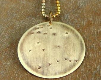 Gemini Necklace, Gemini Constellation Necklace, Zodiac Constellation Necklace, CHOOSE your constellation GEMINI Charm Necklace E Ria Designs