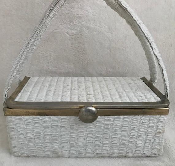 Classic Plastic Raffia Box Bag