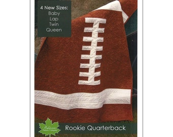 "Pattern ""Rookie Quarterback"" Football Quilt Pattern / Instruction Booklet by Robinson Pattern Co. (RPC-P300)"