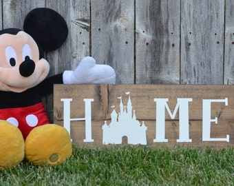 The Original** Disney Home Sign on Stain Wood Hand Painted Home Decor.