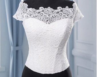White Bridal corset Wedding corset for dress  Detail for wedding dress Bridal separates Wedding separates UP  Wedding dress  Top Wedding