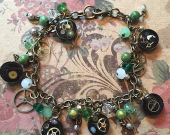 Steampunk Crystal bracelet