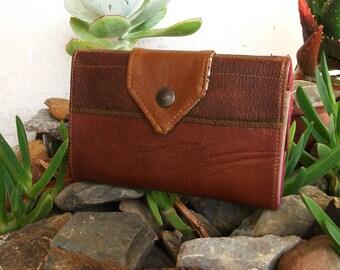 Handmade Wallet, Personalized, Floral, Vegan Friendly, Vegan Leather, Leather Wallet, Boho Wallet, Womens Wallet, Coin Purse - UNUSUAL