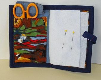 Impressionist Needle Book, Needle Case, Hand Sewing Organizer
