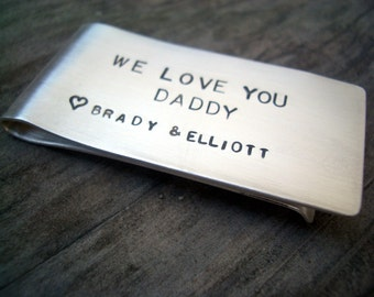 Personalized Hand Stamped Sterling Money Clip for alu2