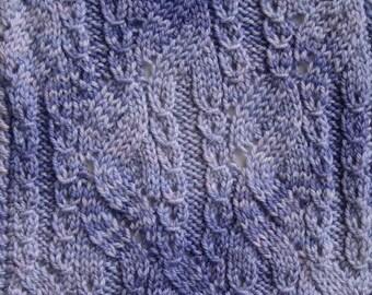 Knit Scarf Pattern:  Tsugaru Scarf Knitting Pattern