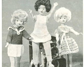 Vintage Pattern Fashion Doll Sindy Barbie Well Dressed Doll Clothes instant download knitting pattern