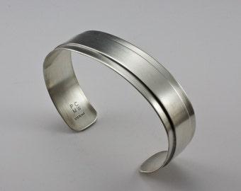 Sterling Silber, moderne Armreif, Herren, Womans Armband, moderne Manschette, oxidiert, glänzenden Manschette, Manschette, polierten Manschette