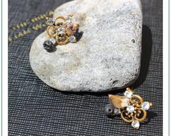 Raw Jasper Shards    Volcanic Lava Stone   Aromatherapy Earrings