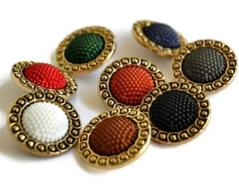 Orange Buttons, size 22mm/ 0,87inches