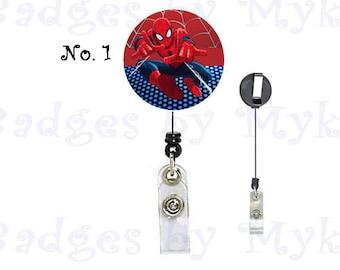 Retractable ID Badge Holder - Spiderman