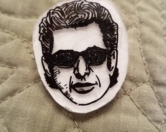 Jeff Goldblum inspired pin