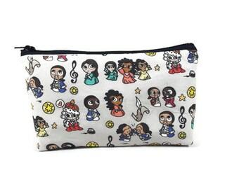 Hamilton Makeup Bag,  Zipper Pouch, Zipper Bag, Hamilton Cosmetic Bag, Zipper Pouch , Makeup Pouch, Tampon Case, Cosmetic Bag,