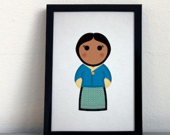 Card 065·F  Bhutanese woman