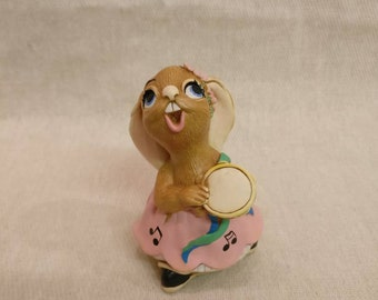 Pendelfin Rabbit Rosa Figurine, hand painted stonecraft.