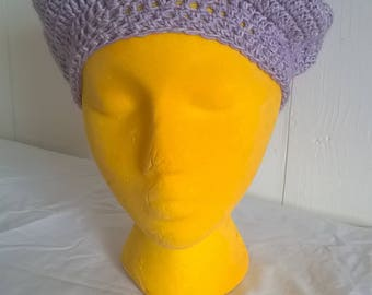 Crocheted Cotton Beret Hat