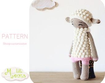 Crochet PATTERN - Sheep, lamb customization Little Meons - Amigurumi pattern, crochet amigurumi pattern, amigurumi lamb, crochet sheep