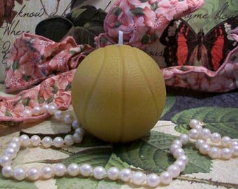 Beeswax Basketball Candle Choice Of Color