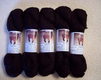 Alpaca Yarn – Espresso (2 ply worsted weight)