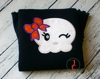 Halloween Shirt - Halloween Outfit, Skull Shirt, Personalized Halloween Shirt, Coordinating Sibling Outfits, Girl Halloween, Halloween Dress