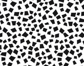 Mini black and white 54cmx22 patchwork fabric coupon cm