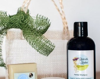 Gift Set Hair, hair kit, hair care products, hair gift sets, best hair products, handmade by queen of the meadow