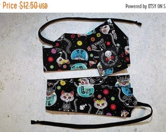 ON SALE Day of the Dead Kittens, Cats, Wrist Wraps, WOD, Weightlifting, Athletic