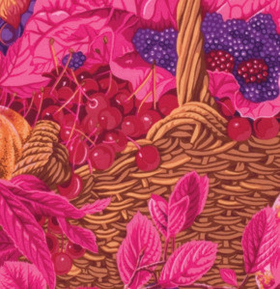 MARKET BASKET  in Red PWPJ067 New Spring 2014 by Philip Jacobs for Kaffe Fassett Collective