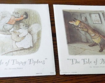 1995 Flying colors Ink. Tales of Peter Rabbit, by Beatrix Potter. Tale of Timmy Tiptoes + Tale of Mr. Tod