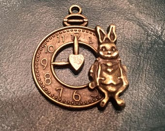 The White Rabbit's Favorite Clock Charm