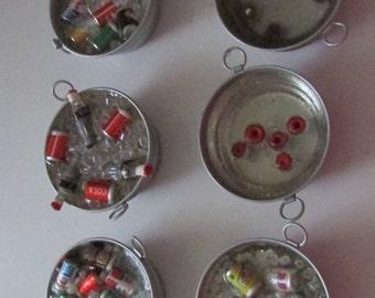 apples in water resin beer pop in water resin dollhouse miniature