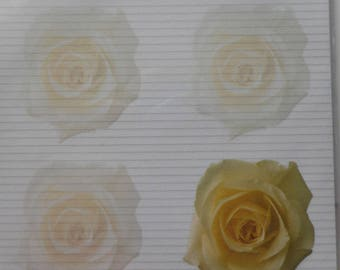 "bag of 25 sheets of A4 ""yellow roses"" floral paper"