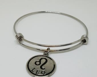 Expandable zodiac charm bracelet (all zodiacs available)