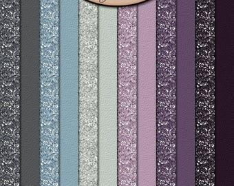 Digital Scrapbook: Everlasting Solid Glitter Paper Pack