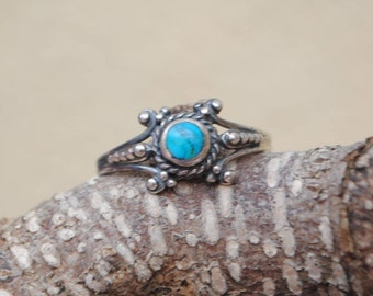 Native american turquoise ring and sterling silver, vintage rings, vintage jewelry, turquoise jewelry, turquoise, turquoise rings
