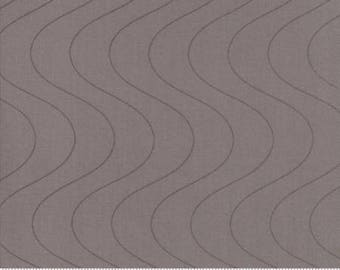Moda Fabric - Thrive Dovetail - Light Brown Fabric with Brown Waves - Quilting Fabric By The Yard - Cotton Yardage - Fat Quarter, Half Yard