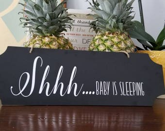 No soliciting sign. Personalized Front door sign. Shh..Baby is sleeping sign. Don't make it weird sign.