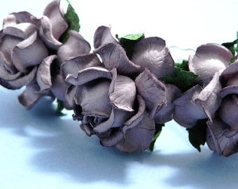 Dusty Purple Floral Rose Hair Pin Set/ Bridal/ Wedding Hair Accessories/ Bridesmaid Hair Pin/ Wedding Flower Pins