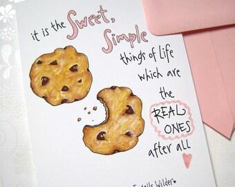 Cookie Birthday Card - Birthday for Her - Friend Birthday - Chocolate Chip Cookies - Cookie Gift Card