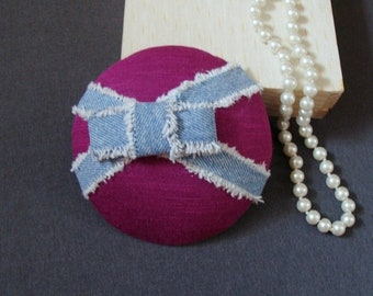 fascinator amaranth with jeans