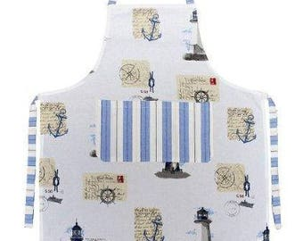 Maritim-design Grill / kitchen apron cotton