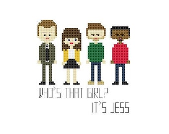 Cross Stitch Pattern - New Girl//Craft Supplies//PDF Pattern//Instant Download//Digital Download