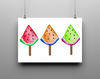 Digital Poster Watermelon Ice