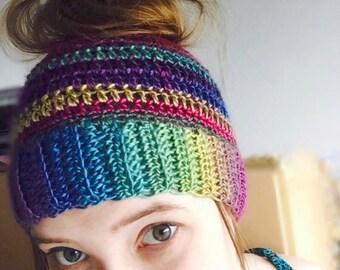 Messy Bun Hat, Messy Bun Beanie, Messy Bun Beanie Hat, Bun Hat, Bun Beanie, Ponytail Hat, Messy Bun, Ponytail Beanie, Women Winter Hat, Hat