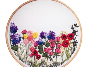 Embroidery Kit // Embroidery Supplies, Hand-Embroidery Kit, DIY Embroidery, Flower Embroidery, Wildflowers