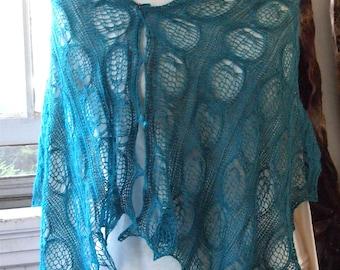 Instant Download pdf Hand Knitting Pattern  - Fern Scarf