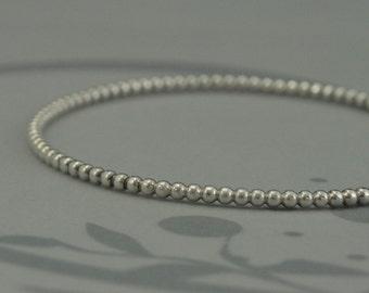 Silver Beaded Bangle~Textured Stacking Bangle~Bubble Bangle~Stackable Bangle~Solid Sterling Silver~Beaded Bracelet~Stacking Bracelet