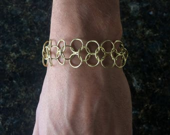 Gold color chainmail bracelet Chainmail Jewelry