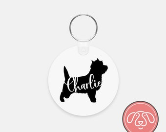 Personalized Cairn Terrier Dog Keychain