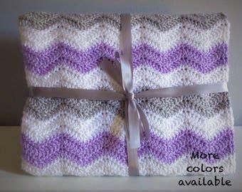 Baby Blanket, Baby Girl, Baby Boy, Baby Shower Gift, Handmade Baby Blanket, Crochet Baby Blanket, Chevron Baby Blanket, Baby Nursery